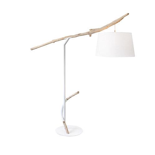 Industrial floor lamp metal drift wood (knock down) h:2050