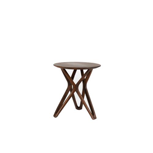 Walnut Starry round side table