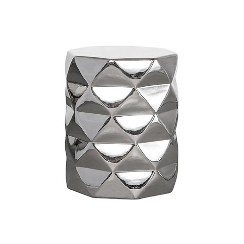 TS diamond stool - gloss silver