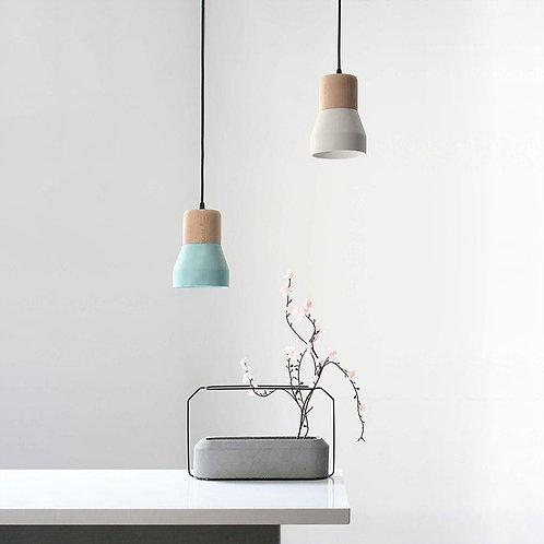 Flash bulb pendant lamp - light blue
