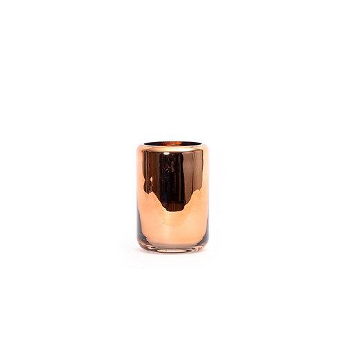 Chrome glass vase h150