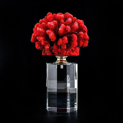 Artificial coral #2, red /w stand