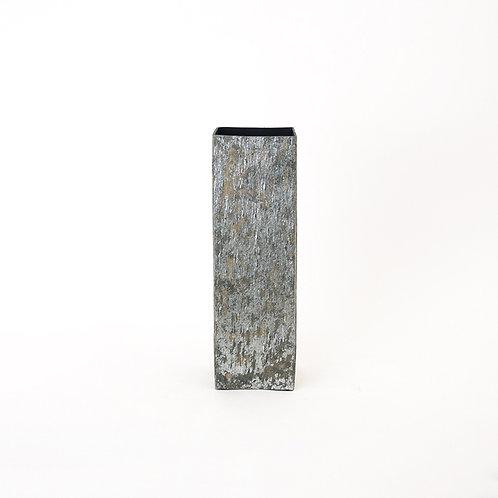 Slate stone square vase