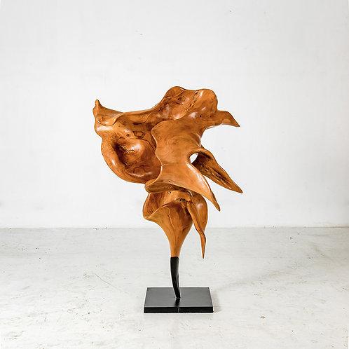 Knight wooden sculpture