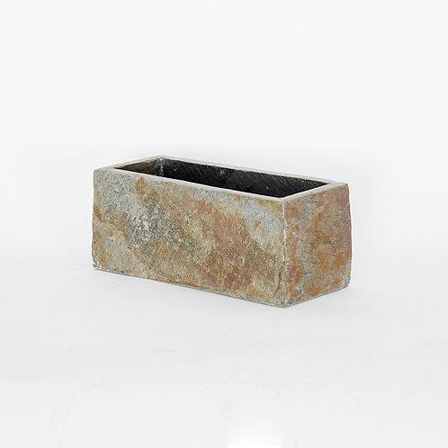 Slate stone rectangular vase