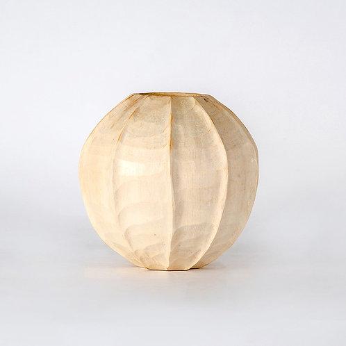 White lantern shape vase