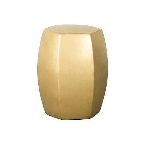 Hexagonal stool - gold