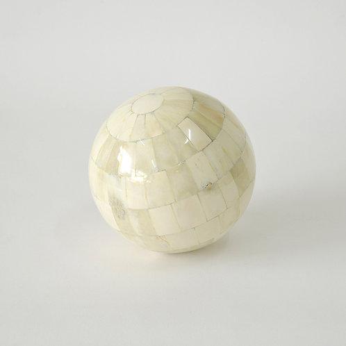 White horn decorative ball - dia150