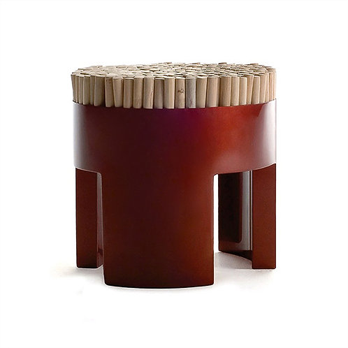 CHIQUITA STOOL (MUTED RED)