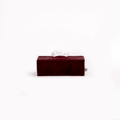 OVO - rectangle tissue box (burgundy)