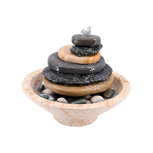 Pebble water fountain