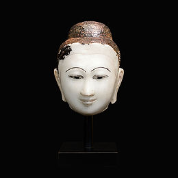 19th Century Mandalay Buddha Head - L