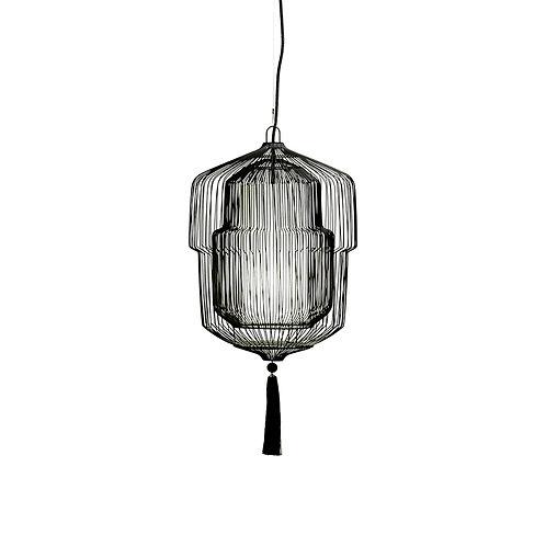 Moire 560mm cicada pendant lamp - black