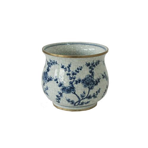 Flower pot 5'' w/ blossom pattern