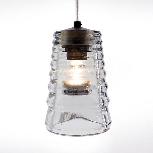Pressed Glass - Tube pendent lamp