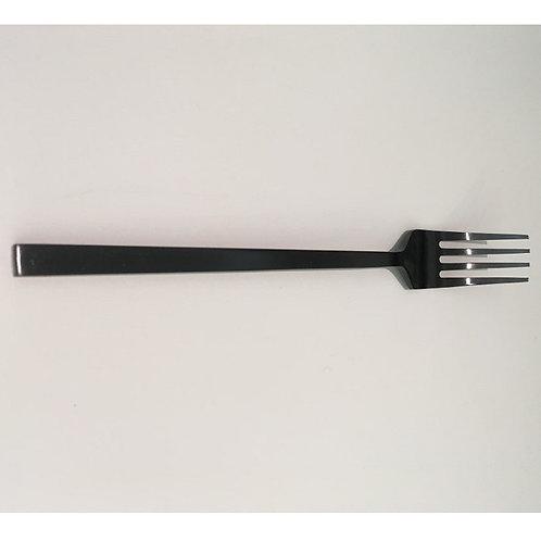 Dinner fork in matte black