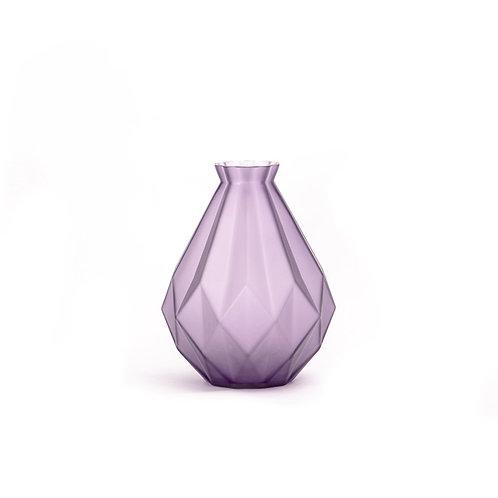 Fold glass vase