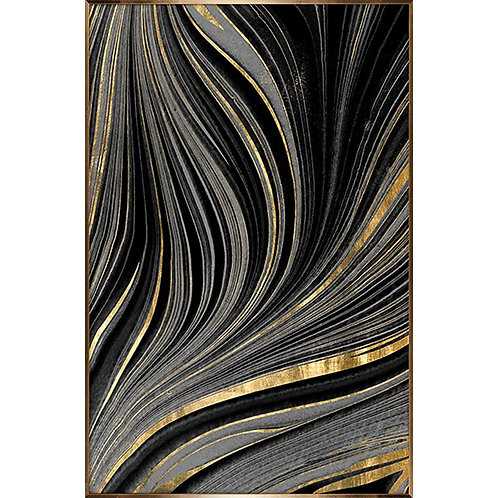 Layers artwork - gold & black