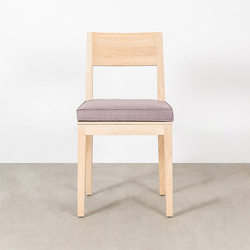 Cube dining chair with seat cushion