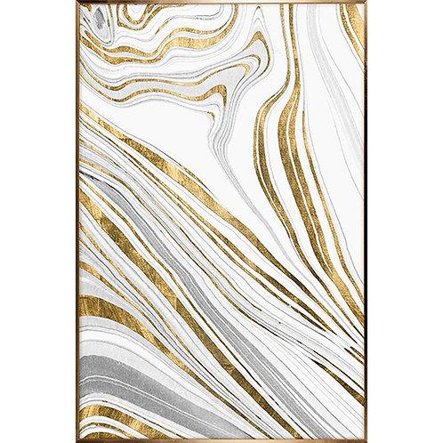 Layers artwork - gold & white