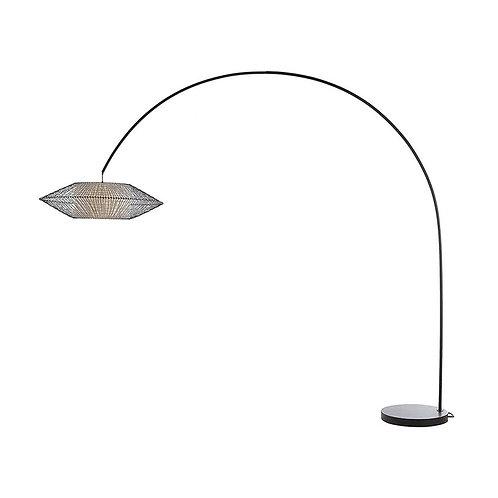 Kai arc lamp (brown base), large