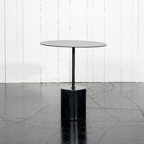 Tender side table h450 w/ black marble base