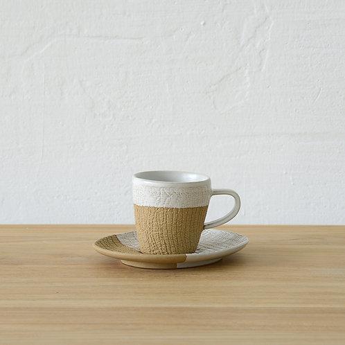 Ceramic espresso cup with saucer