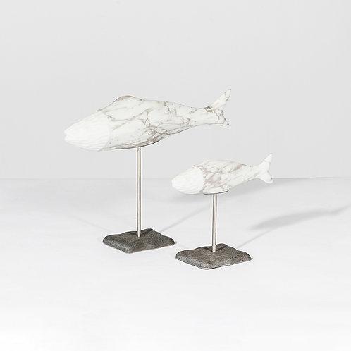 Fish sculpture w/ stand