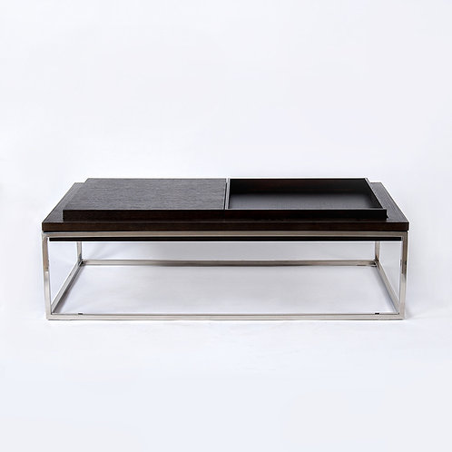 Tray-coffee table - 2 trays (stainless steel)
