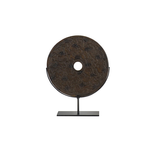 Round resin w/ cloud pattern- brown