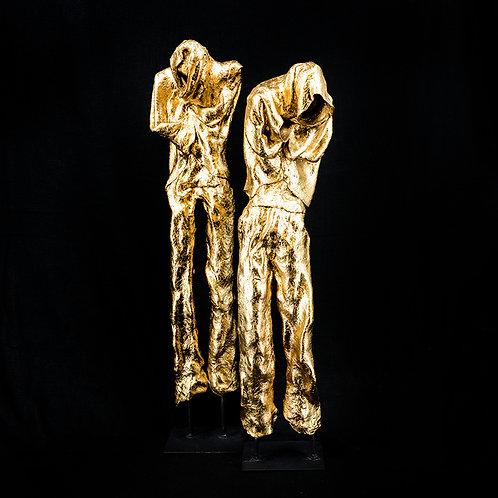 Human form#2 - gold leaf (set of 2)
