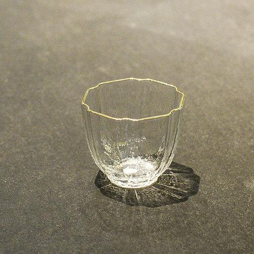 Hexagonal glasses w/ gold rim