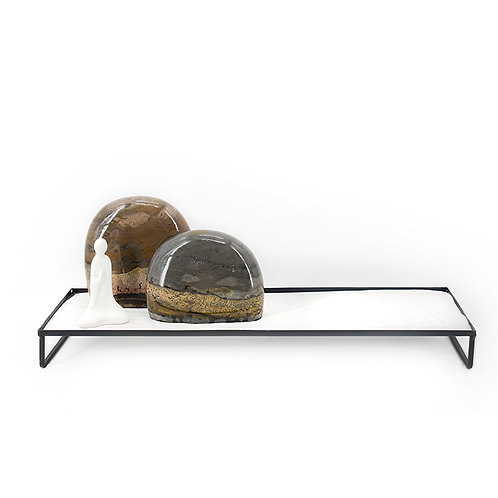 Chinese stone w/ metal stand
