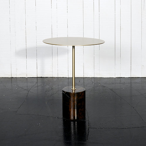 Tender side table, h500  w/ black red marble base