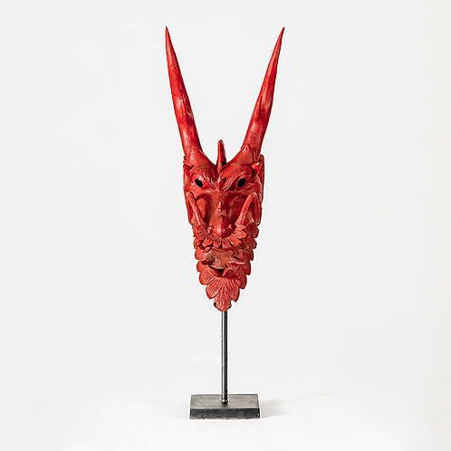 Dragon Head in  Red w/ stand