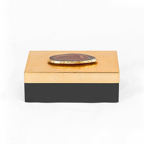 Splendid jewelry box, gold/ black