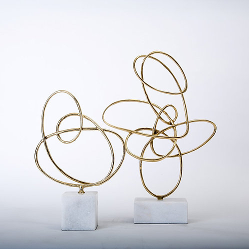 Cosmos - brass w/marble base H370