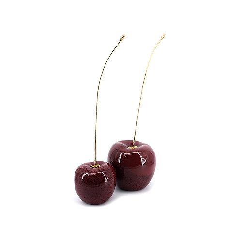 Red Cherry with brass stem, L