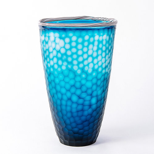 Marine glass vase