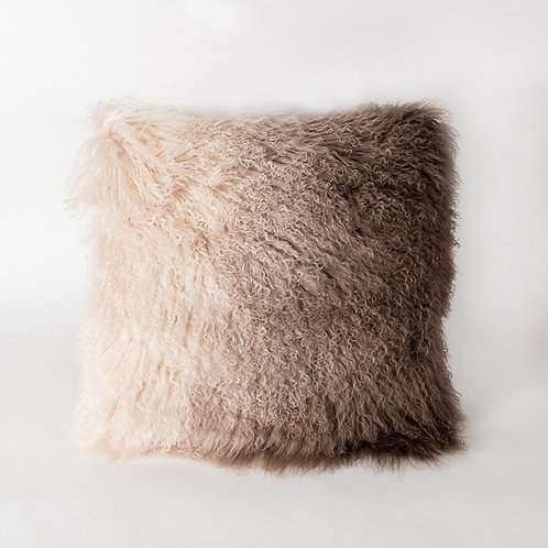 Cork cushion - beige ombre