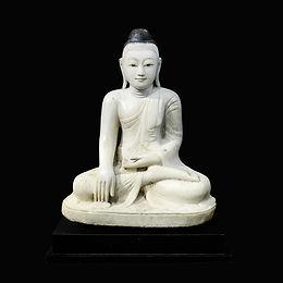 19th century mandalay style sitting buddha