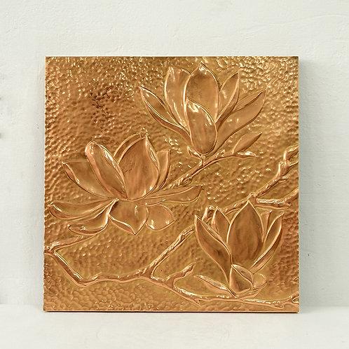 Copper flower artwork