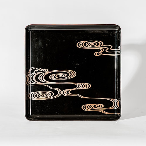 Old japanese lacquer tray, #4