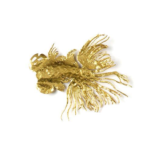 Laser cut goldfish wall sculpture, w250mm (*gold leaf)