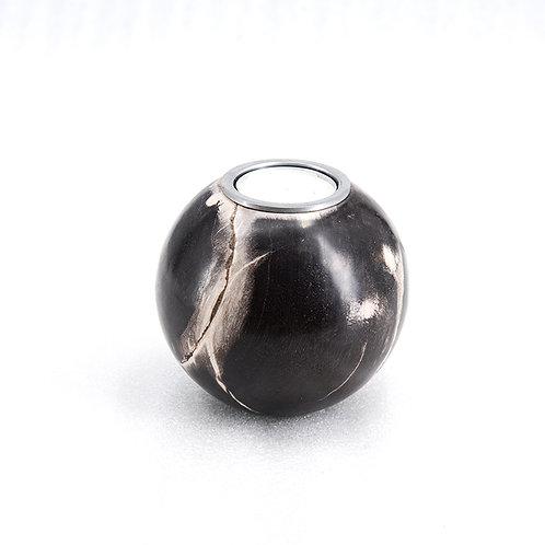 Petrified wood ball shape candle holder, dia100