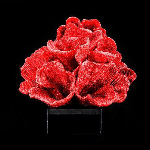 Artificial coral #3, red /w stand