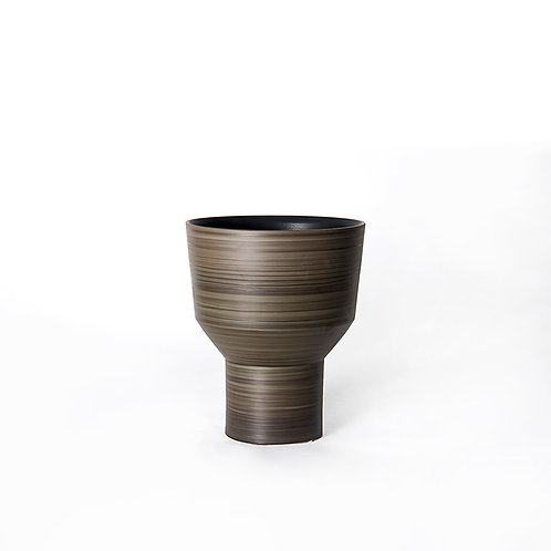 Funnel vase- tall (dark grey)