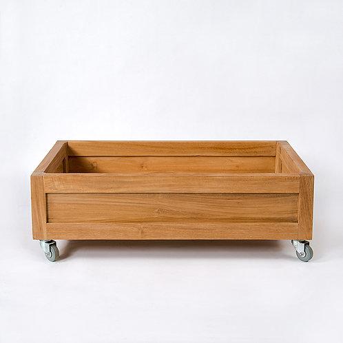 Duo storage box w/ lockable wheel, w/ water resistant coating