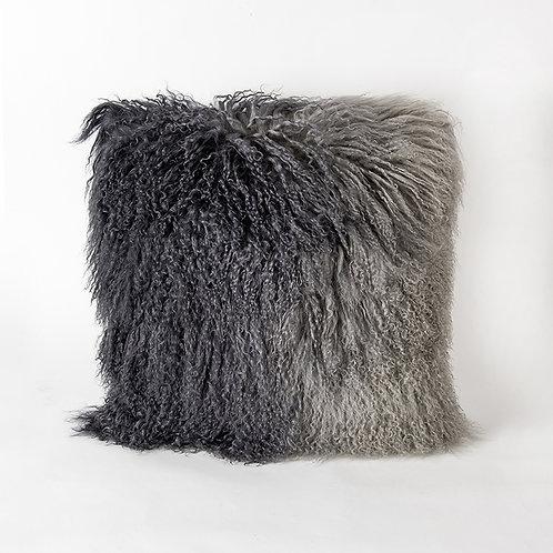Cork cushion - grey ombre