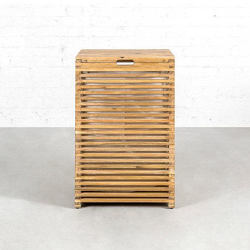 Stripe laundry basket - large